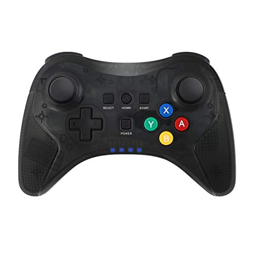 Wii U Pro Controller,Bigaint Wireless Bluetooth Rechargeable Game Controller Dual Analog Gamepad Joystick with USB Cable for Nintendo Wii U (Black) (WII U)