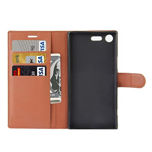 Phone Case Cover for Sony Xperia XZ Premium Litchi Texture Horizontal Flip Leather Case with Holder & Card Slots & Wallet(Black) Bags Sleeves (Color : Brown)