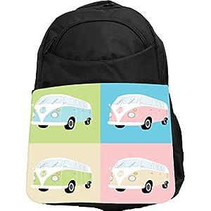 Rikki Knight UKBK Camper Van Tech BackPack - Padded for Laptops & Tablets Ideal for School or College Bag BackPack