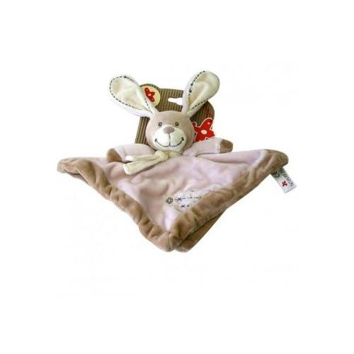 Doudou en peluche Lapin Rose Calin - Nicotoy 23 cm