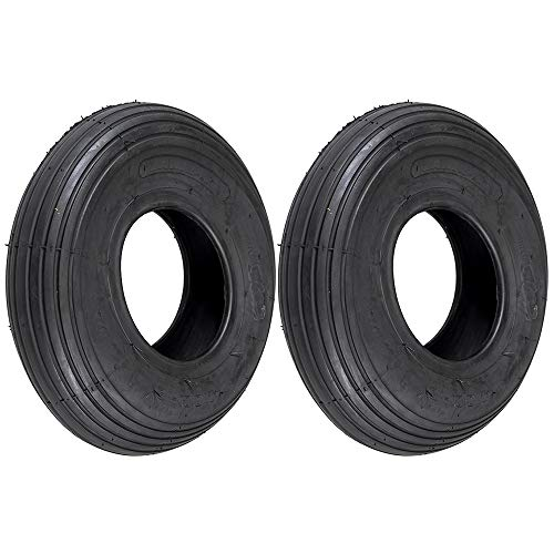 Tread 2 Ply Tubeless Tire - Stens 2 Kenda Tire 13.5x4.00-6 Rib Tread 2 Ply Tubeless for Lawnmower Tractor Golf Go Cart 5134371