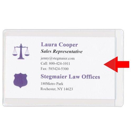 StoreSMART Business Card Holders - Peel & Stick Open on The Short Side - 100 Pack - (ZSTB222S-100) ()