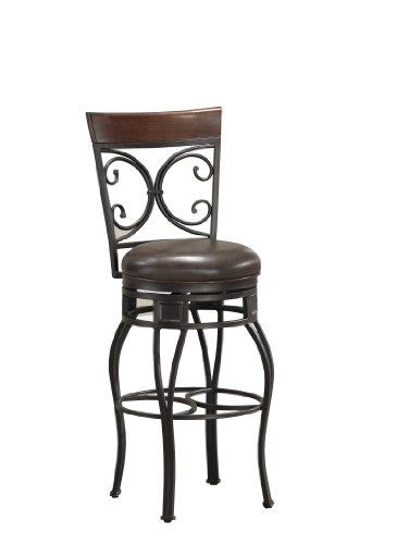 American Heritage Billiards Treviso Extra Tall Height Stool, Gray ()