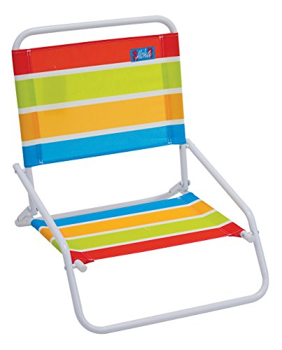 RIO Gear Rio Brands Aloha Sand Chair, Turquoise/Yellow/Lime/Red Stripe by RIO Gear