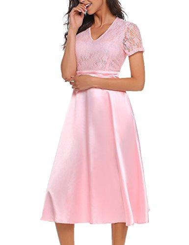Swing kleid rosa blau