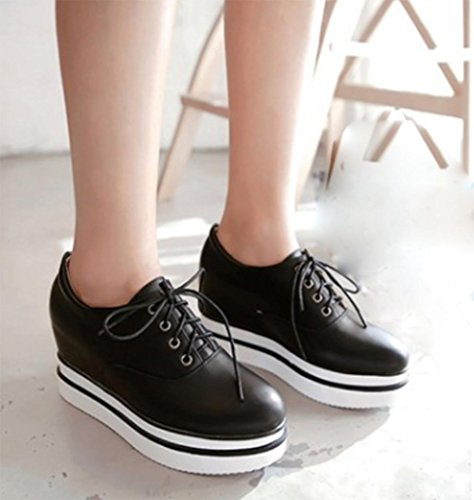Mme dentelle simple US5 5 chaussures à 5 chaussures épais Spring fond d'ascenseur EU35 dames en CN35 muffin chaussures UK3 rw7qrIOB