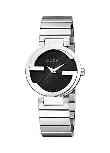 Gucci Women's Interlocking Watch - Silver/Black