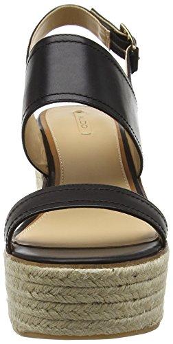 Donna Nero con Scarantino Leather Zeppa Aldo 97 Black Sandali fXIcw