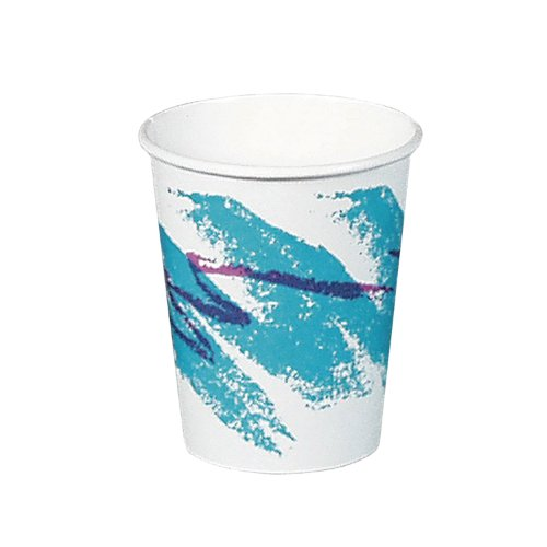 SOLO 378JZ-00055 Jazz Design Single-Sided Poly Coated Paper Hot Cup, 8-oz. Capacity (20 Packs of 50 Cups)