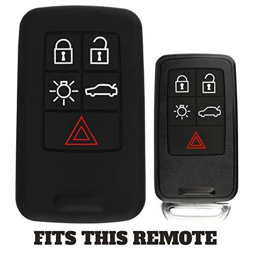 - For 07-17 Volvo Rubber Keyless Entry Remote Key Fob Skin Cover 5btn Smart Key