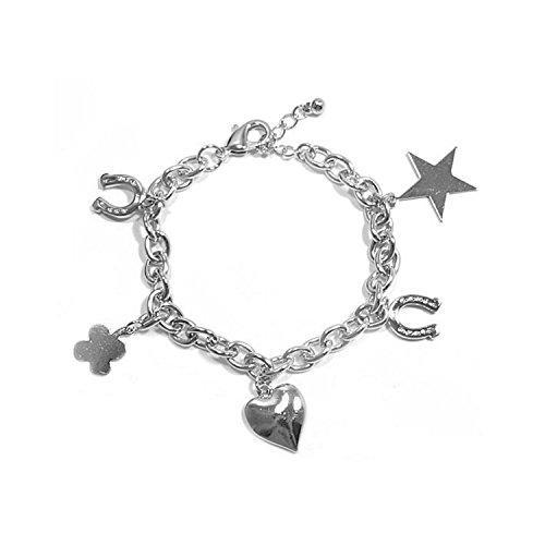 Les Plaisirs de Stella Women's Metal Bracelet - Heart - Iron Horse - Etoile - Clover - Costume