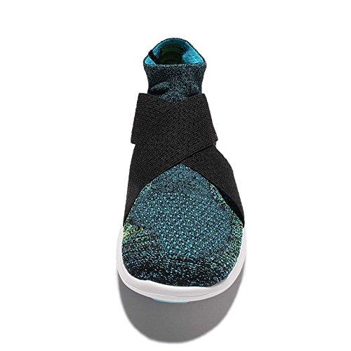 Nike Men's Free RN Motion FK 2017, BLACK/CHLORINE BLUE-VOLT-WHITE, 9.5 M US