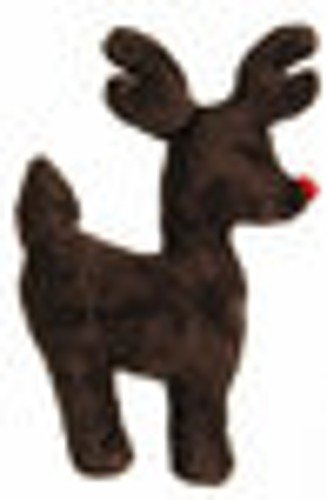 West Paw Design Ruff-N-Tuff Reindeer Squeak Toy for Dogs, Holiday, Brown, My Pet Supplies