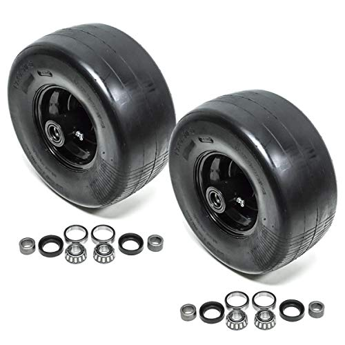2PK Scag Mower 482504 Front Solid Tire Assembly 13X6.5-6 Flat Free Caster Wheel