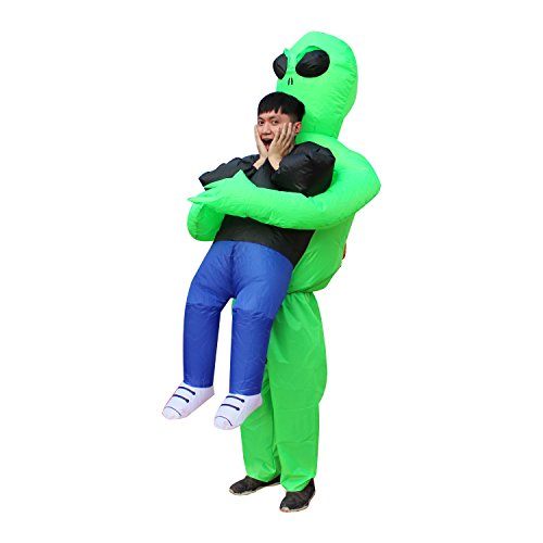 Seasonblow Inflatable Alien Pick me up Costume Halloween Pretend Costumes for Mens & Womens Adult Size