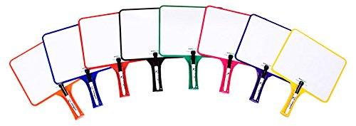 KleenSlate KLS50027051 Hand Held Dry Erase Rectangular Paddle Classroom Kit, Blank/Handwriting (Pack of 32) by Kleenslate
