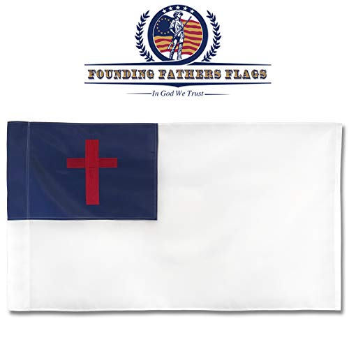 Founding Fathers Flags Christian Home Banner Flag - Faith Edition 3'x5' Oxford ()