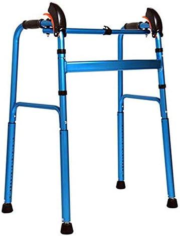 ウォーキングエイドフットパッドフリーローテーションウォーキングウォーカー、折りたたみアルミ合金構造補助ウォーカー、高齢者のための歩行補助器具