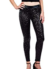 Summersum Women Sequin Pants Sexy Bodycon Shiny Leggings Party Clubwear Long Tights Trousers