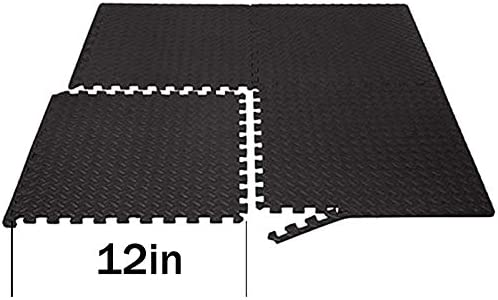 Puzzle Exercise Floor Mat, Gym Flooring for Home Gym with EVA Foam Interlocking Tiles for Gyms, Yoga, Outdoor Workout, Kids, Foam Thick Workout Mat 20 Square Feet