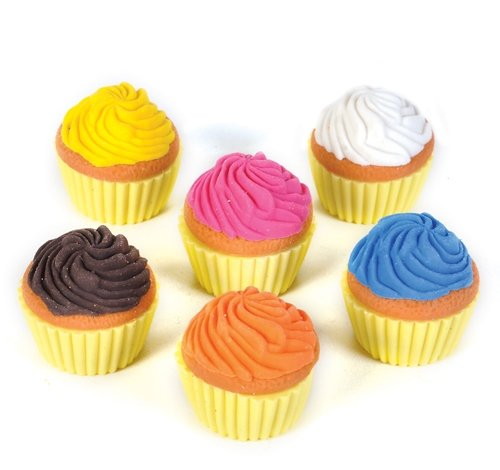 SCENTED CUPCAKE ERASER, Case of 24 by DollarItemDirect