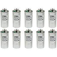 TEMCo 10 LOT Dual Run Capacitor RC0104 - 35/5 mfd 370 V 440 V VAC volt 35+5 uf AC Electric Motor HVAC