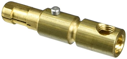 Leviton 15D21-C 15 Series Male Plug, Contact, Cam-Type, Single Set Screw Termination - Brass ()