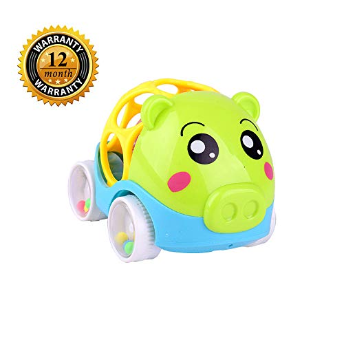 - Mysj Soft Rattle car, 6 to 24 Months Baby Toy car 4.5inch Boy and Girl Gift for 6-24 Age Creative Rattle Toy for Christmas Easter Birthday Party (Green)