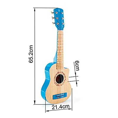Hape Kid's Flame First Musical Guitar, Blue: Toys & Games