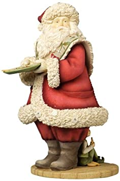 Enesco Heart of Christmas Santa and Elf with Cookie Tray Figurine, 9.06-Inch