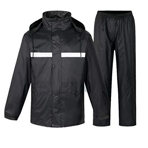 Unisex Rain Jacket Packable Outdoor Waterproof Hooded Pullover Raincoat Poncho Women's Split Rainwear Men's Jacket Pants Suit