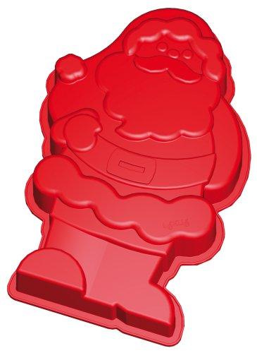 Lurch 16120 Flexi Light - Molde de silicona para horno con forma de Papá Noel, color rojo: Amazon.es: Hogar