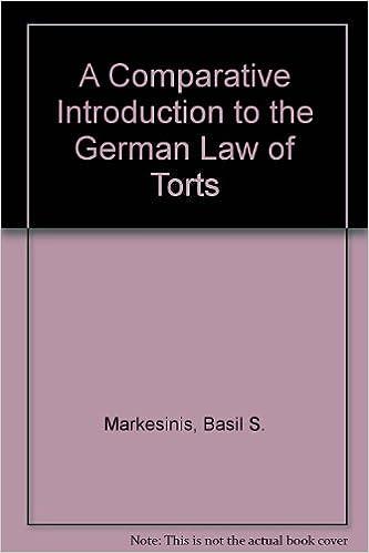 Laden Sie kostenlose E-Books in Englisch herunter The German Law of Torts: A Comparative Introduction auf Deutsch PDF FB2