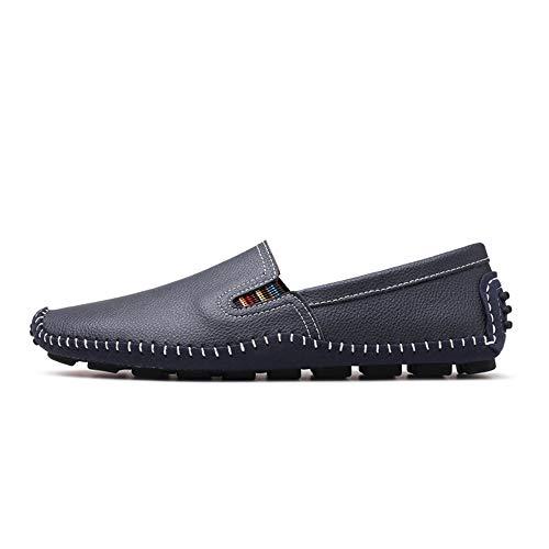 Scarpe Ofgcfbvxd pelle Mocassini Dimensione Men's Casual 41 Blu Color Flat On Soft EU Drive Slip Flat in Blu 0AvAxr