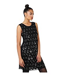 KRISP Womens 1920s Embroidered Vintage Sequin Bodycon Flapper Party Dress