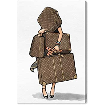 The Oliver Gal Artist Co. Fashion and Glam Wall Art Canvas Prints, Bags-Orange' Home Décor, 10
