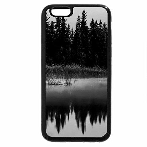 iPhone 6S Plus Case, iPhone 6 Plus Case (Black & White) - Lake Reflection