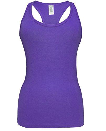 Mma Womens Shirt (Epic MMA Gear Fitness Tank Top, Workout Tanks, Triblend Racerback (L, Purple))