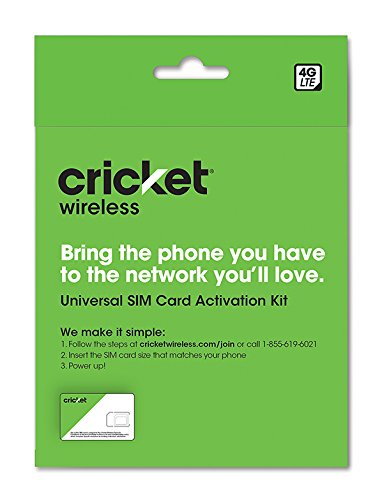 Cricket BYOD 2.0 Wireless 3-in-1 SIM Card Kit - Prepaid - Black from Cricket