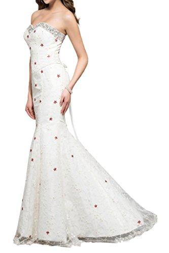 Squisito Formale Bretelle Avril Bianco Senza Sirena Abito Vestito A Sera Partito x7H5wqfw