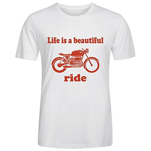 Life is A Beautiful Ride T Shirt Mens Crew Neck - Style Minaj Nikki