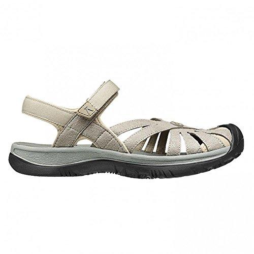 Keen Womens Rose Sandal W Aluminum/Neutral Gray Size 7.5 EU (Strappy Sandals Keen)