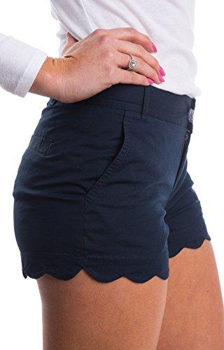 GAMISOTE-Women-Summer-Scalloped-Hem-Short-Casual-Stretchy-Shorts
