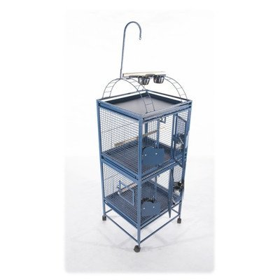 Small Double Stack Bird Cage Color: Platinum by A&E Cage Co.