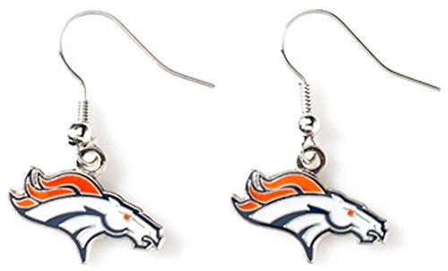 NFL Denver Broncos Logo Dangler Earrings