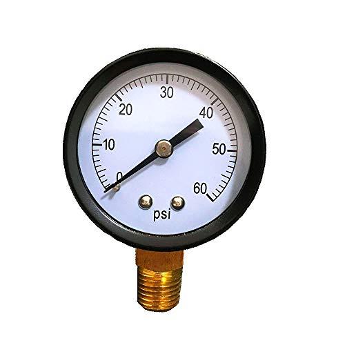 Pump Pressure Gauge - Cobsvika Pool Filter Pressure Gauge 0-60 PSI,1/4