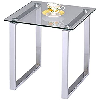 Chrome With Glass Modern Accent Side End Table Plant Stand Pilaster Designs