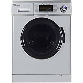 Arbreau 1.6 Cu.Ft Compact New Combination Washer and Dryer AW4400 CV Silver with convertible Venting/Condensing Drying with Automatic Water Level and Sensor Dry most suitable for Tiny houses.