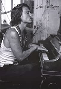 (22x34) Johnny Depp Movie (At Piano) Poster Print