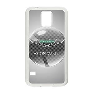 aston martin logo Funda Samsung Galaxy S5 Funda Caja del teléfono celular blanco B3H5GE Caja del teléfono de plástico transparente